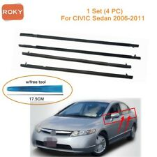 For Civic Sedan 2006 2011 Window Weatherstrip 4pc Sweep Belt Outer Withtool Fits 2006 Civic