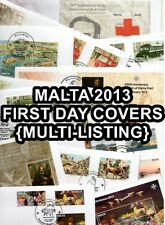 2013 MALTA Complete First Day Covers FDC {Multi-Listing}