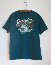 Bass Lake Green Cotton Mens T-Shirt Size Large Puritan