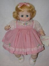 "Cute 16"" Vintage Madame Alexander Blonde Pussy Cat Baby Doll 1977 In Pink"