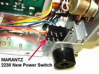 Marantz Power Switch Kit + Knob 2238 and others 2245, 2250B, 2252, 4220 NEW