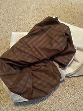 New! Sweet Home Brown Dobby Stripe Queen Bed Skirt Dust Ruffle Washable Comfort