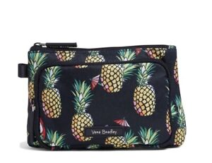 Vera Bradley TOUCAN PARTY Lighten Up Compact Cosmetic Organizer NWT Pineapple