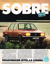 PUBLICITE ADVERTISING 104  1981  VOLSKWAGEN  la nouvelle  JETTA