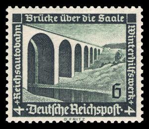 Germany Deutsches Reich 1936 Mi. Nr. 637y WHW Modern Buildings 6+4 Pf. MNH