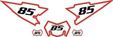 2008-2015 Yamaha WR250X Pre-Printed White Backgrounds with Red Bold Pinstripe