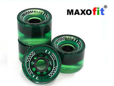"MAXOfit® Longboardrollen ""All Day"" Grün 70mm Durchmesser"