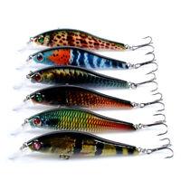 10pcs Minnow Fishing Bait 8.9g//9.5cm Hard Lures Crankbait Bass Tackle Wobbler