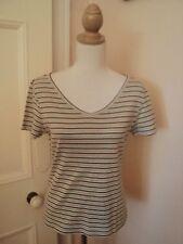 sposrtcraft stripe t shirt  pure cotton  beige  brown aqua