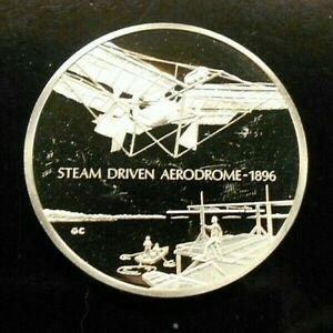 THE FRANKLIN MINT ~ HISTORY OF FLIGHT ~ 34 GRAMS .925 STERLING ~ COMBINE SHIP