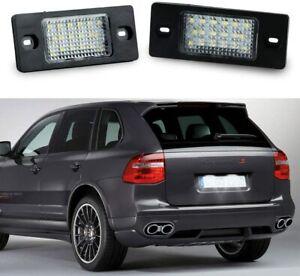 18SMD LED License Plate Light For VW Golf5 Passat Tiguan Touareg Porsche Cayenne