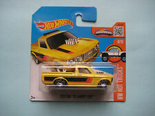 Diecast Hotwheels HW Hot Trucks 8/10 Custom '72 Chevy Luv Yellow on Blister