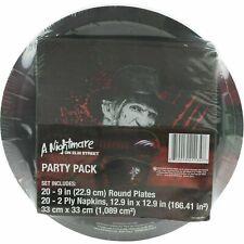 Nightmare on Elm Street Movie Party Pack 20 Plates Napkins Halloween Birthday