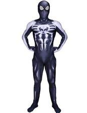 Venom Symbiote Spider-Man Cosplay Costume Black Zentai Suit Cos For Adult & Kids