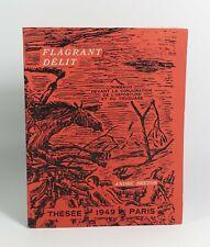 """(RIMBAUD) BRETON André """"Flagrant délit"""" Thésée, 1949. EO. Douanier ROUSSEAU"""