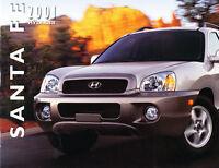 2001 Hyundai Santa Fe 16-page Original Car Sales Brochure Catalog