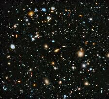 "Poster - NASA Hubble Deep Field 2014 - 24"" x 26"" High Gloss Poster Print"