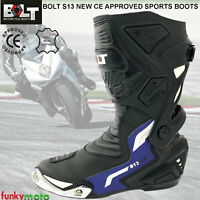Bolt New Model S14 Cool Waterproof Sports Racing Touring Protective Adult Men Boots Black 8 UK//42 EU