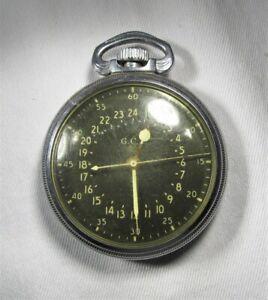 Hamilton Military GCT 4992B 22 Jewel Navigators Pocket Watch WWII US Army C3018