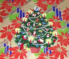VTG EUREKA CHRISTMAS DECORATED TREE DIECUT CARDBOARD DECORATION NOS RARE MINT