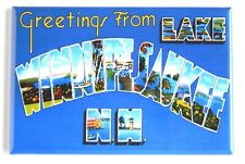 "Greetings from Lake Winnipesaukee New Hampshire Fridge Magnet souvenir ""style A"""