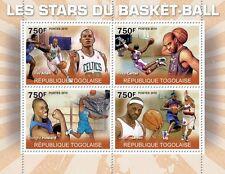 Basketball Allen Carter Howard James m/s Togo 2010 MNH Mi. 3604-3607 #TG10312a