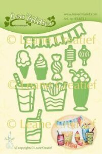 Leane Creatief Cutting Dies - Party & Snacks Burger Fries Sweets Ice Cream