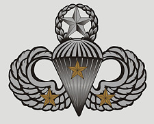 US ARMY AIRBORNE COMBAT JUMP WINGS (THREE JUMPS) STICKER !!