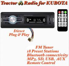 Direct Plug Amp Play Kubota Tractor Radio Am Fm Bluetooth B2650 Rtv 1100 Rtx 1100c