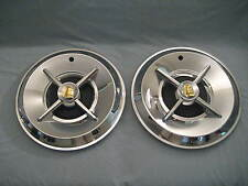 "1957 DODGE LANCER KNIGHT HEAD HUB CAPS 14""1PAIR (2)"