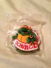 1989 Teenage Mutant Ninja Turtles RAD Badge MICHAELANGELO Burger King NIP! RARE!