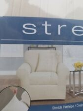 SureFit Stretch 2 Piece Chair Cream Slipcover