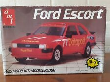 Amt Ertl 1:25 #6528 Ford Escort Mk3 Plastic Modelkit 3in1