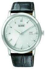 Citizen Eco-Drive Leather Strap BM7190-05A Mens Dress Watch. Classic Look
