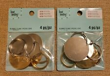 Bead Landing Elemints Blanks Keychains, 4 Pcs, Silver & Gold,1.3in Round, 2 pkgs