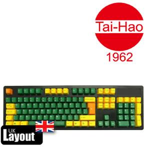 Tai-Hao ABS DoubleShot Keycaps Golden Green UK + US Layout