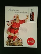 1955 Christmas Santa Coca-Cola Soda-Pop Bottle Coke Memorabilia 10 x 12 3/4 AD