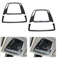 1X Carbon Fiber Interior Reading Light Cover Trim For BMW F10 F07 F25 X3 F26 X4