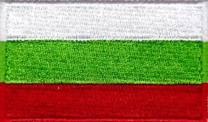 Bulgaria Flag Small Iron On / Sew On Patch Badge 6 x 3.5cm Republic of Bulgaria