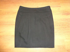 ESCADA SPORT BLACK WOOL BLEND DRAPED PLEAT TULIP SHORT SKIRT-XS,6-UK