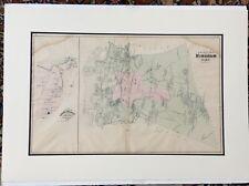 Original 1879 Hingham Map,Cohasset Massachusetts MA Mass Old Vintage Atlas