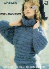 """~ Jaeger Knitting Pattern For Lady's Cowl Neck Dolman Sleeve Sweater ~ 30"""" ~ 40"""""""
