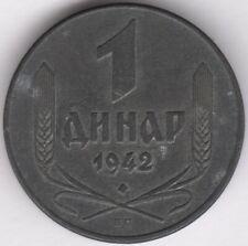 More details for 1942 serbia 1 dinar zinc coin   pennies2pounds