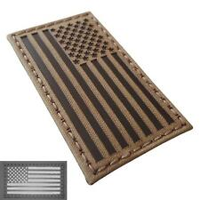USA American flag infrared IR coyote brown tan morale laser hook patch