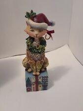 Jim Shore Santa Claws Cat Christmas Figurine Heartwood Creek 2007 Enesco