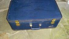Mid Century Vintage Lady Baltimore Royal Blue Large Suitcase Original Tag