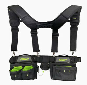 NEW Tool Belt Carpenter Pouch Bags with Suspenders (Heavy Duty)