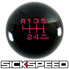 BLACK/PINK BYE FELICIA SHIFT KNOB FOR 6 SPEED SHORT THROW SHIFTER 10X1.5 K14
