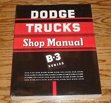1951 1952 Dodge Truck Service Shop Manual B-3 Series 51 52