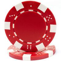1000 Dice Style Poker Chips 11.5g 39mm Casino Job Lot Red White Black Blue Green